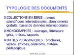 typologie des documents