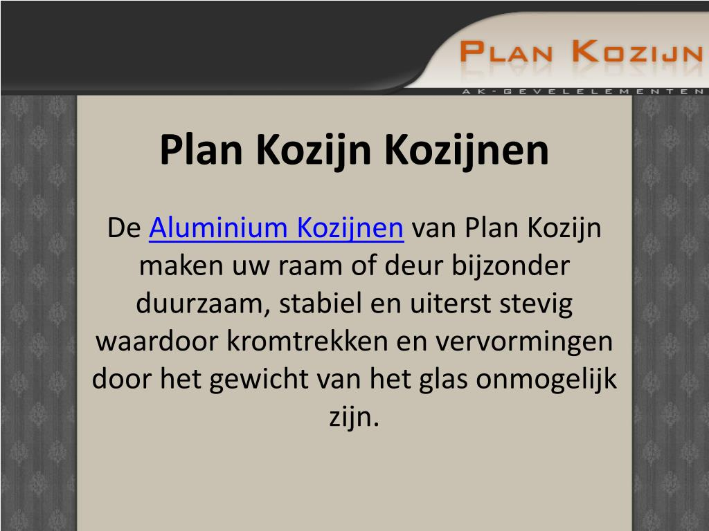 Plan Kozijn Kozijnen