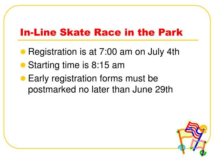 In-Line Skate Race in the Park