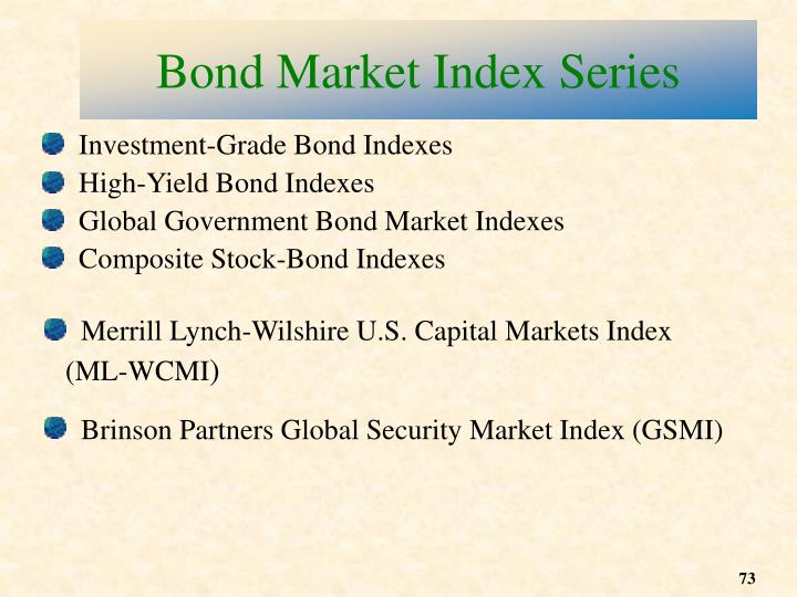 Bond Market Index Series