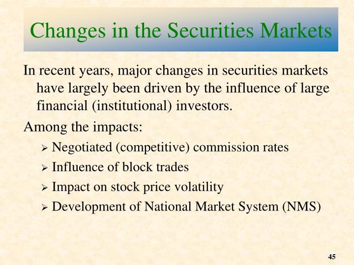 Changes in the Securities Markets