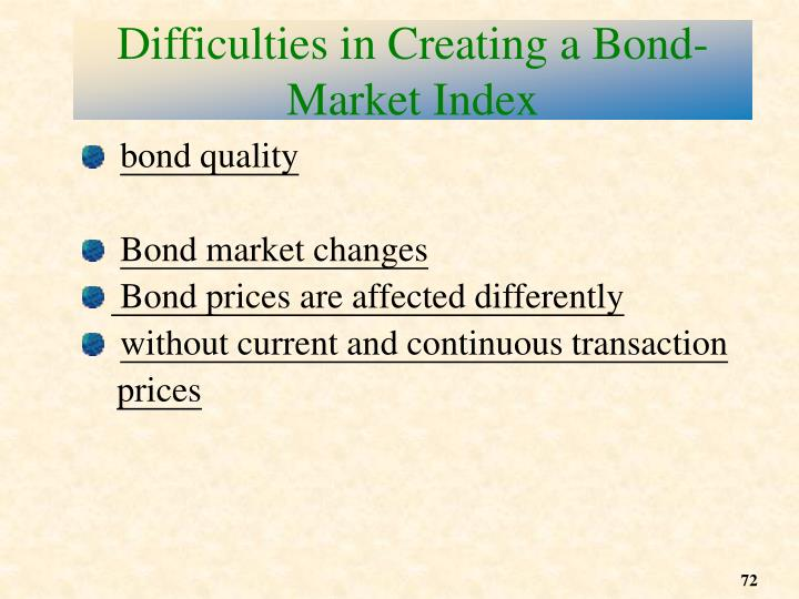Difficulties in Creating a Bond-Market Index