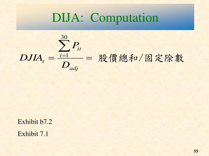 DIJA:  Computation