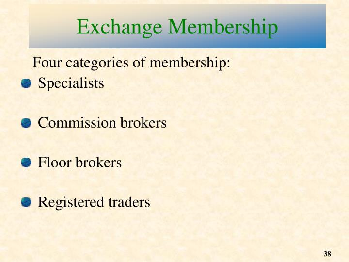 Exchange Membership