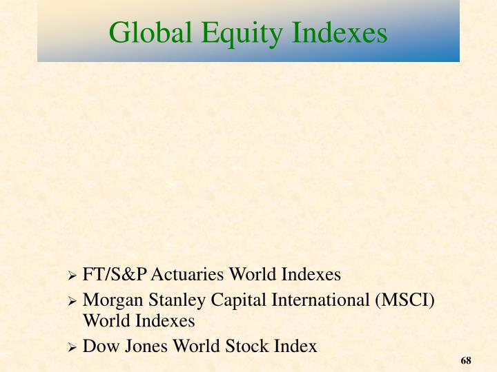 FT/S&P Actuaries World Indexes