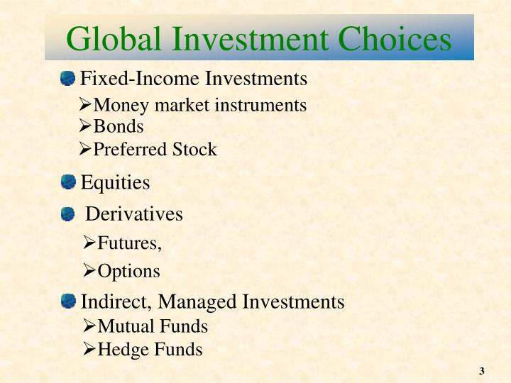 Global investment choices
