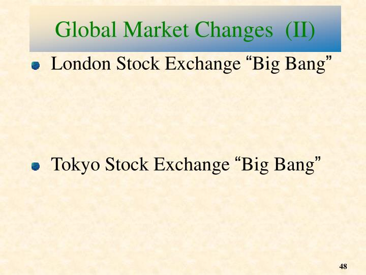 Global Market Changes  (II)