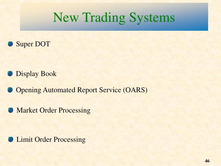 New Trading Systems