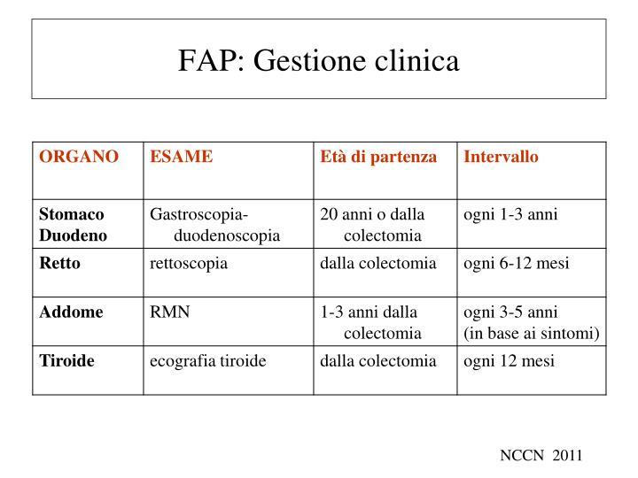FAP: Gestione clinica