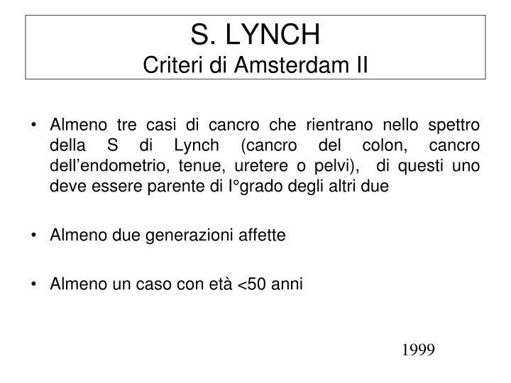S. LYNCH
