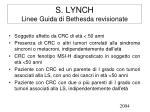 s lynch linee guida di bethesda revisionate