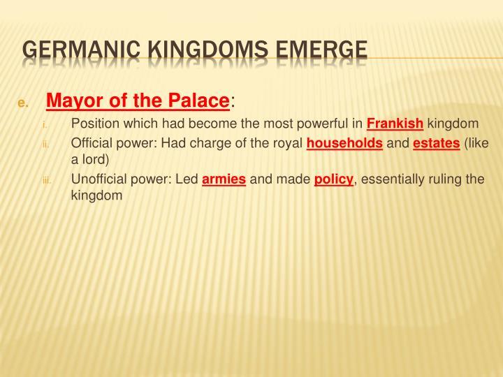 Mayor of the Palace