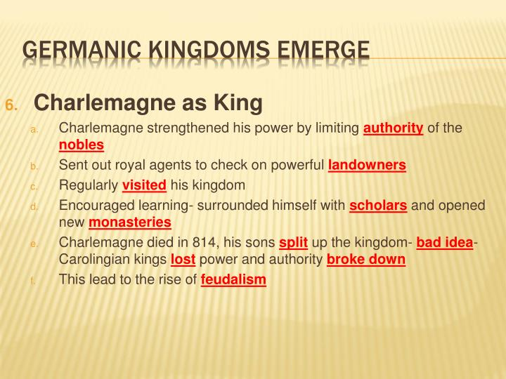 Charlemagne as King