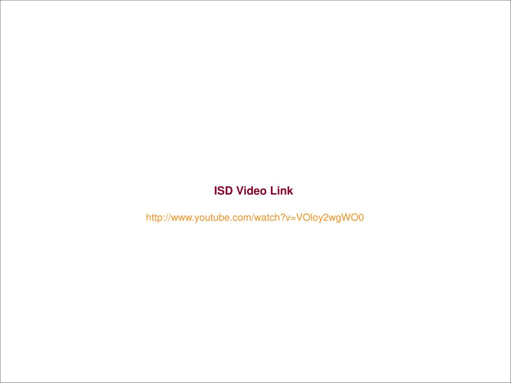 ISD Video Link
