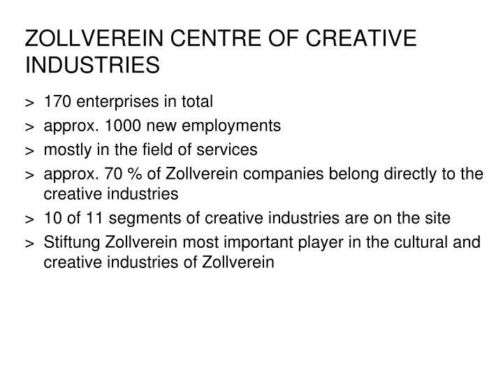 ZOLLVEREIN CENTRE OF CREATIVE INDUSTRIES