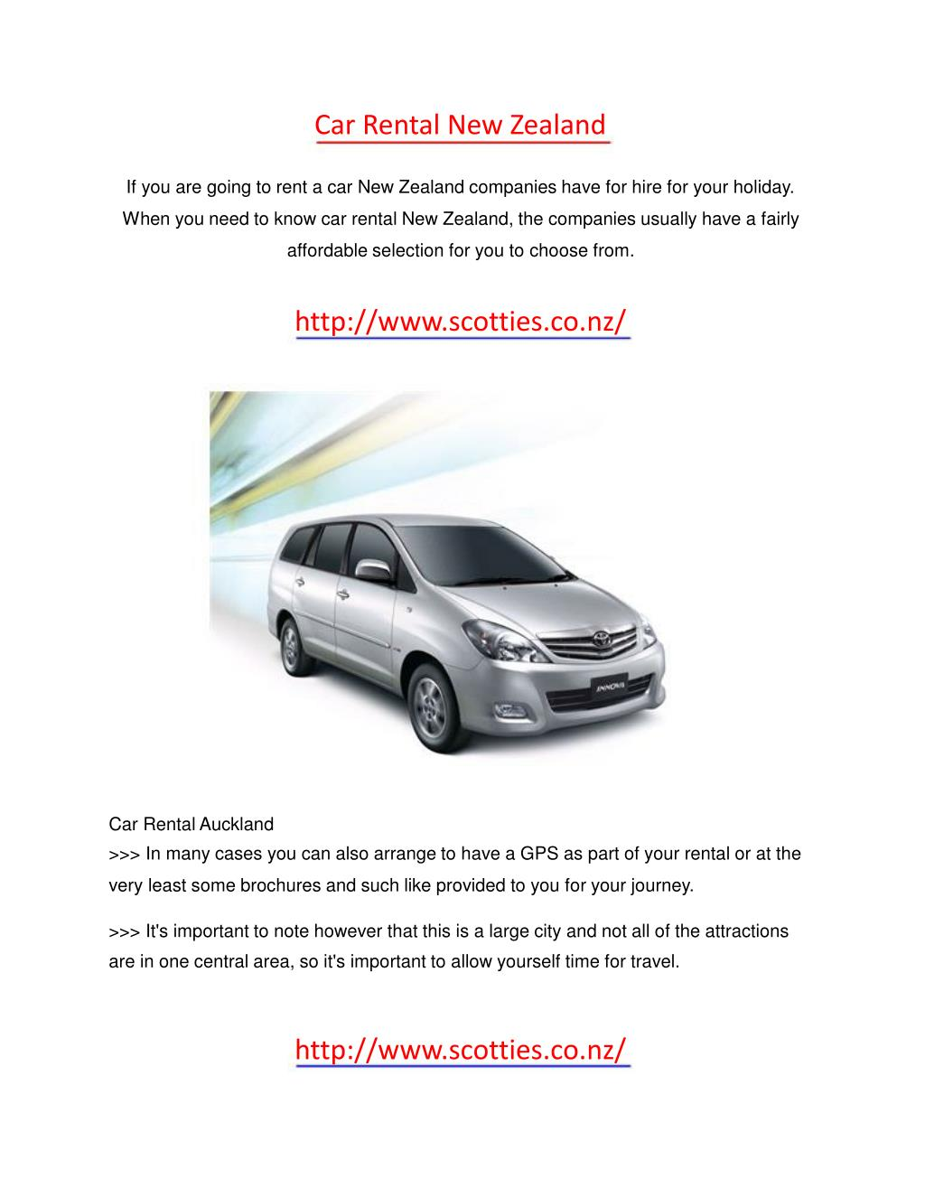 Car Rental New Zealand