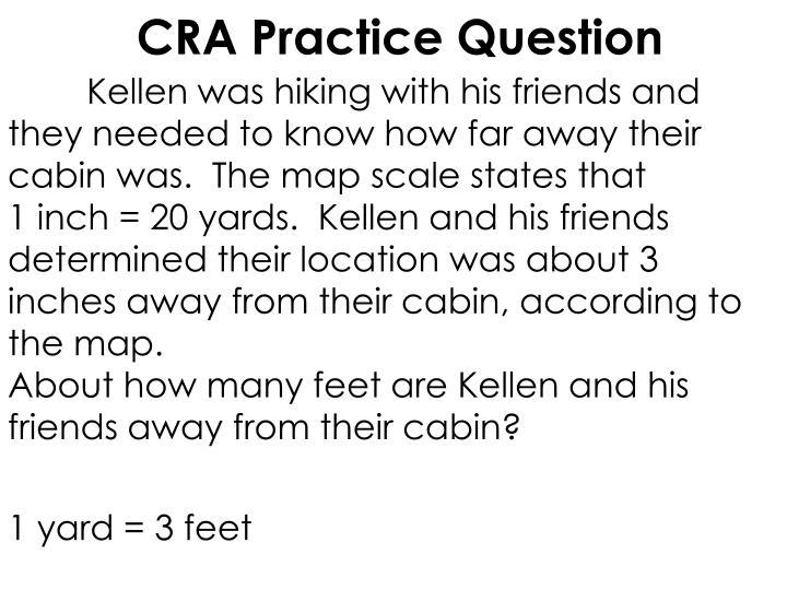 CRA Practice Question