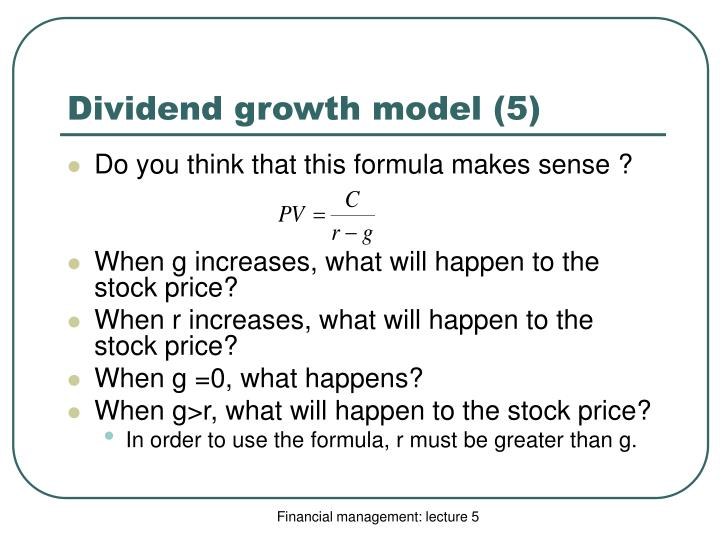 Dividend growth model (5)