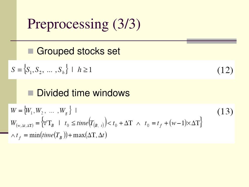 Preprocessing (3/3)