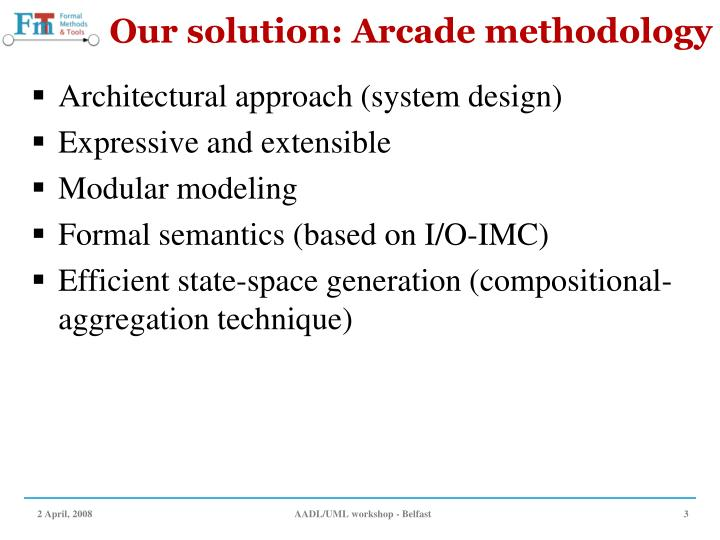 Our solution arcade methodology