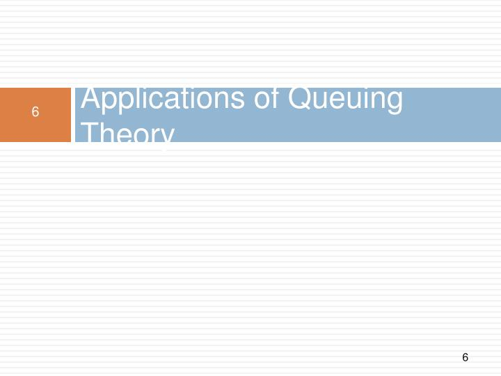 Applications of Queuing Theory