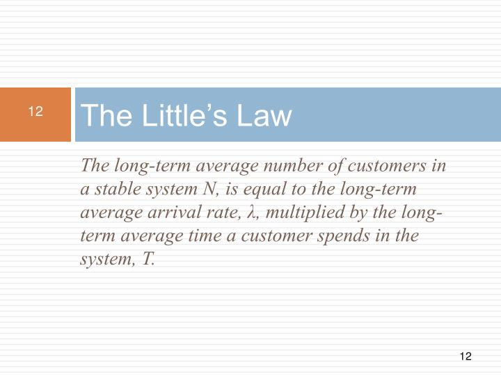 The Little's Law