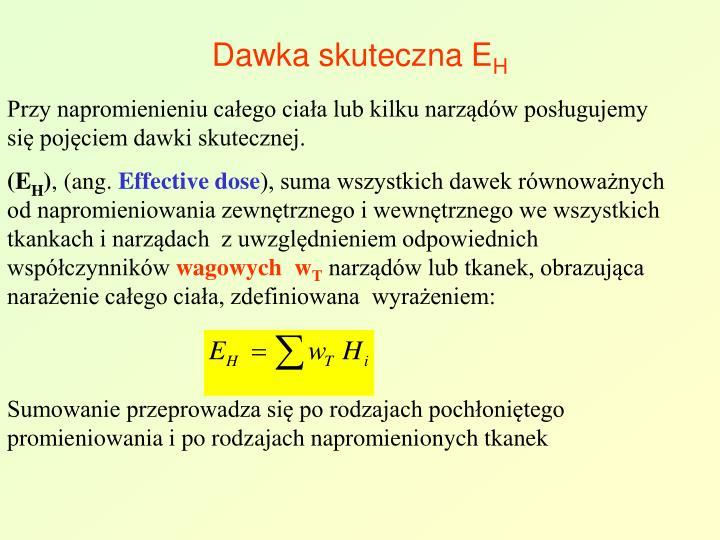 Dawka skuteczna E