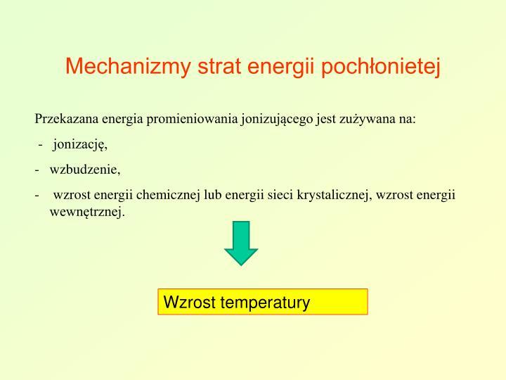 Mechanizmy strat energii pochłonietej