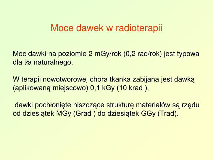 Moce dawek w radioterapii
