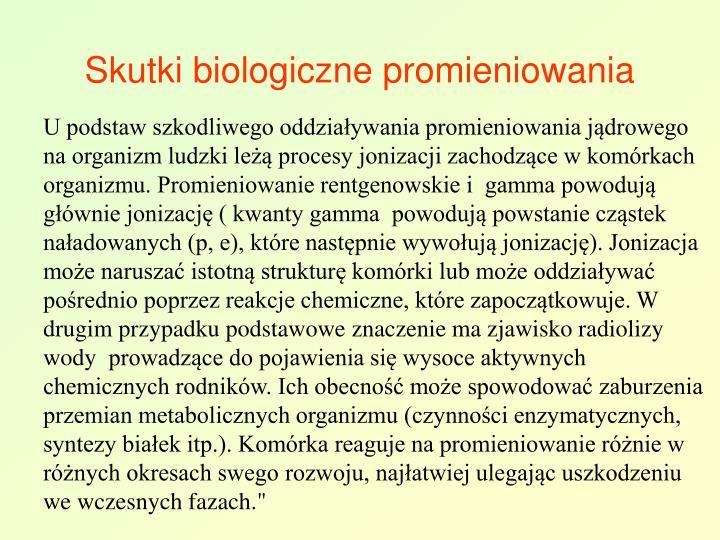 Skutki biologiczne promieniowania