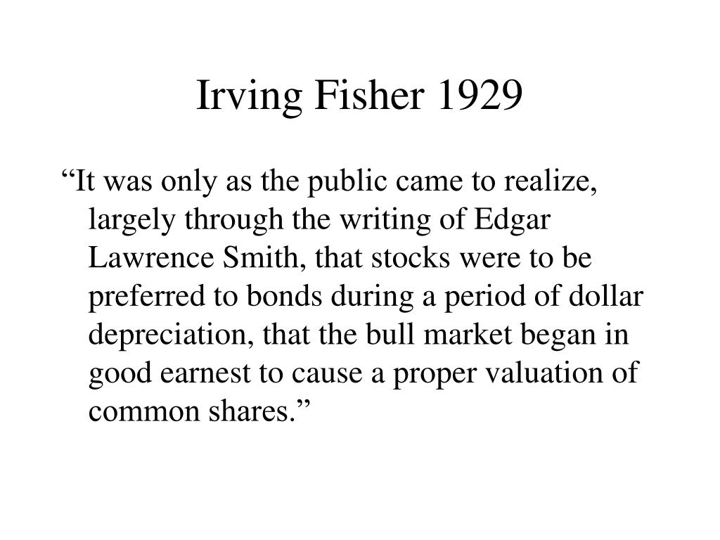 Irving Fisher 1929