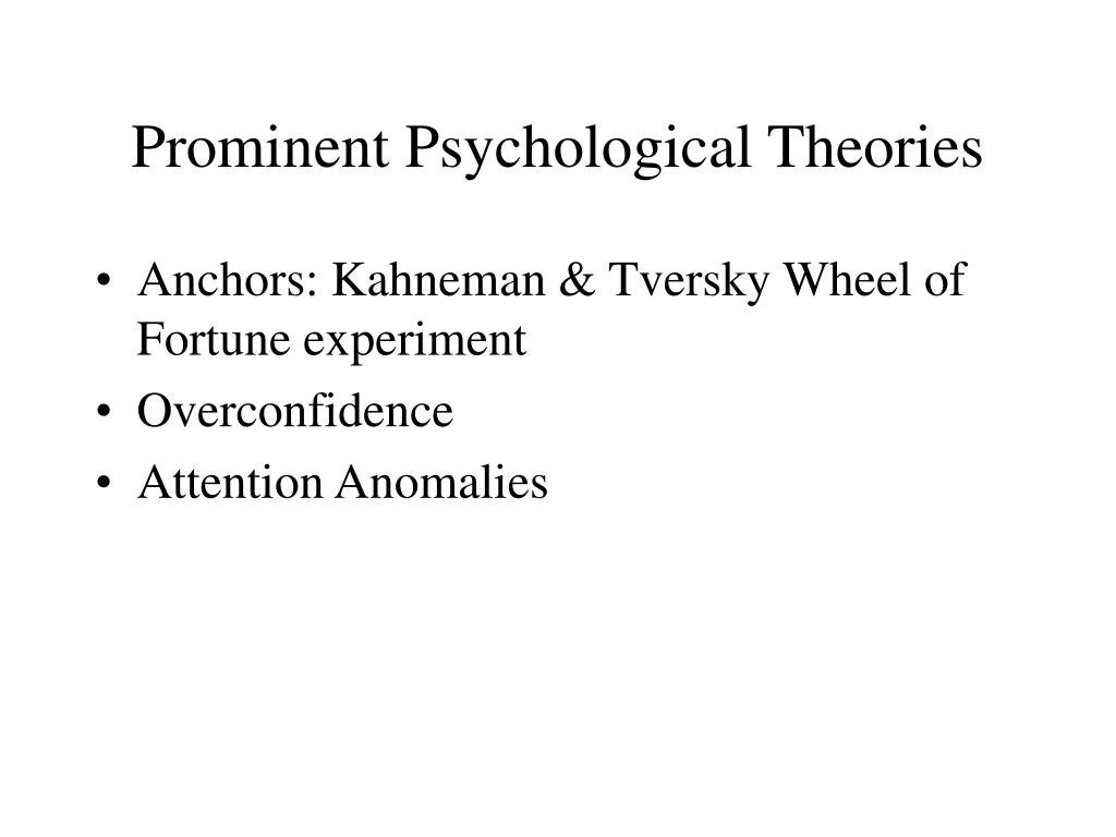 Prominent Psychological Theories