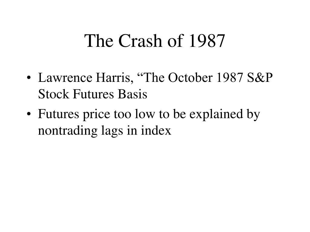 The Crash of 1987