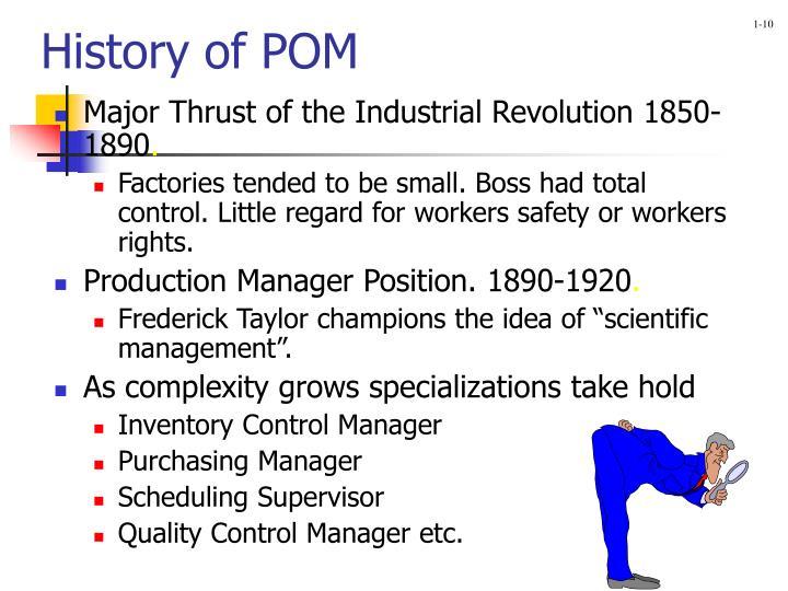 History of POM
