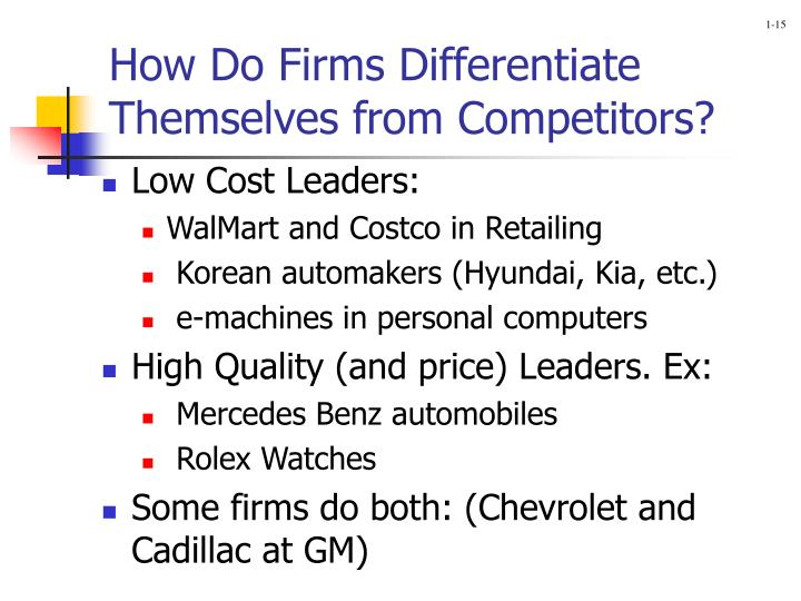 How Do Firms Differentiate Themselves from Competitors?
