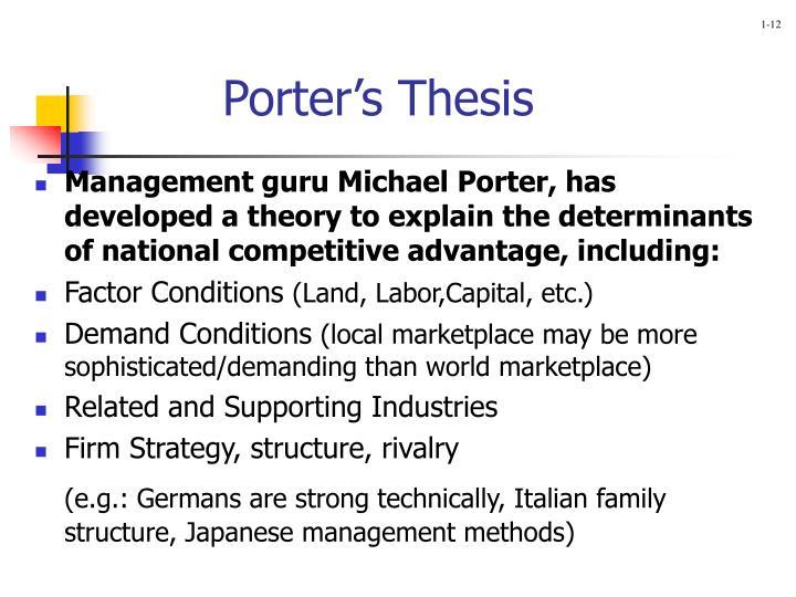 Porter's Thesis