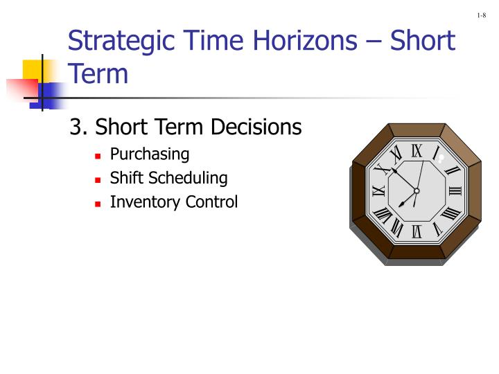 Strategic Time Horizons – Short Term