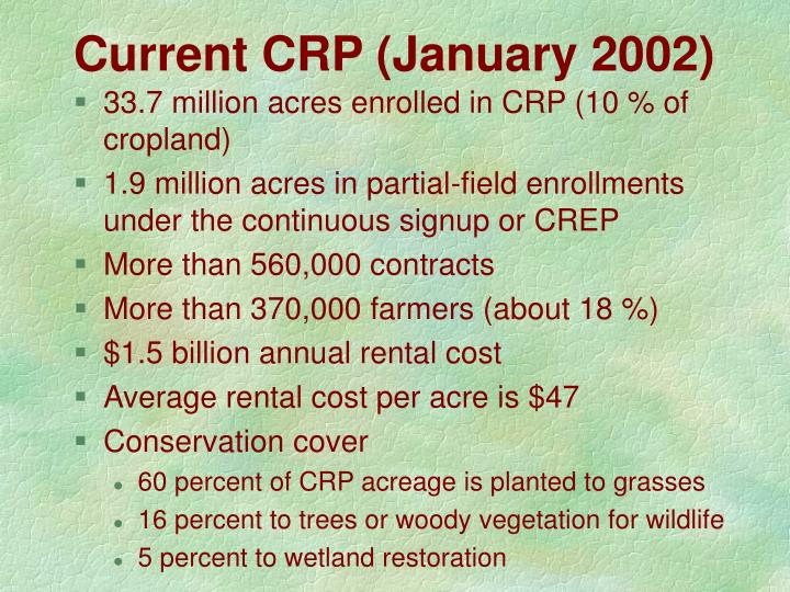 Current CRP (January 2002)