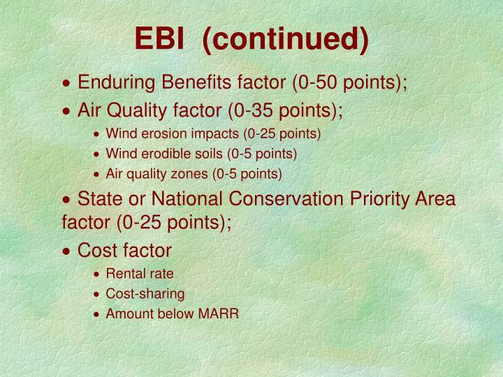 EBI  (continued)