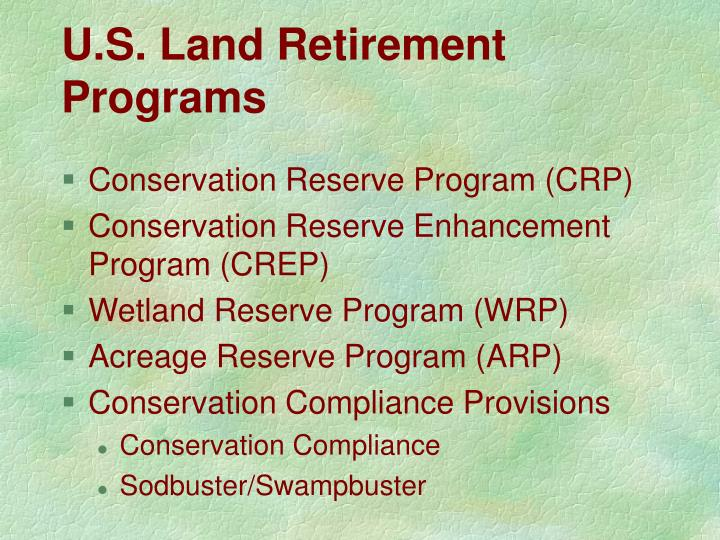U.S. Land Retirement Programs