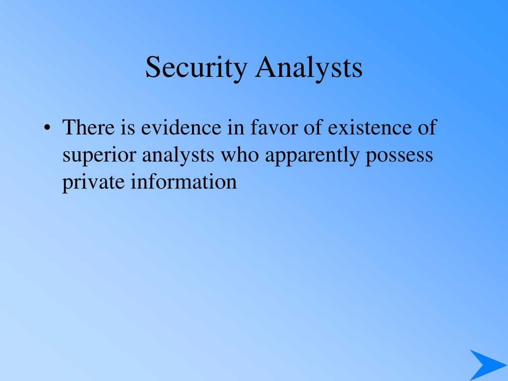 Security Analysts