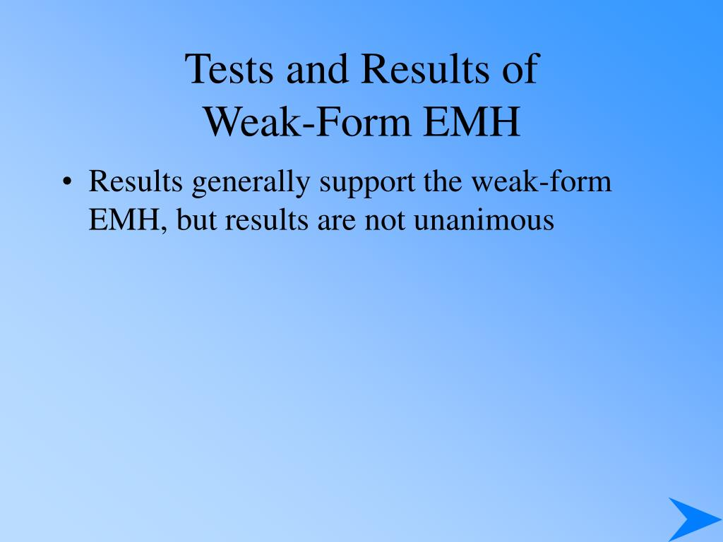 Tests and Results of