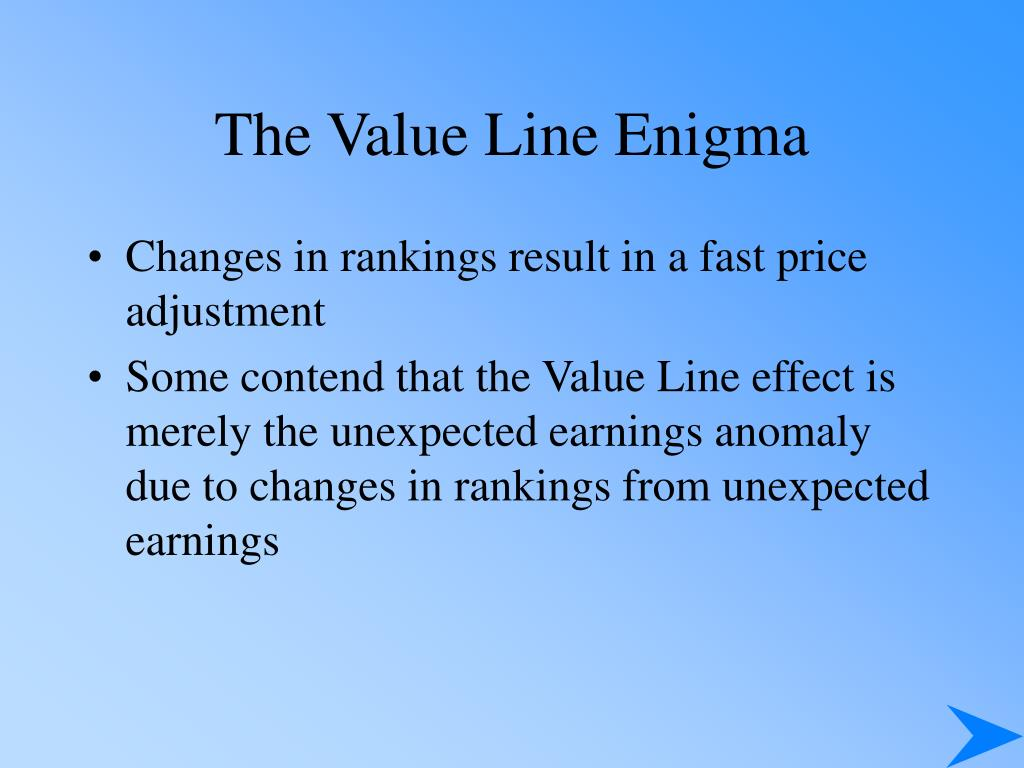 The Value Line Enigma