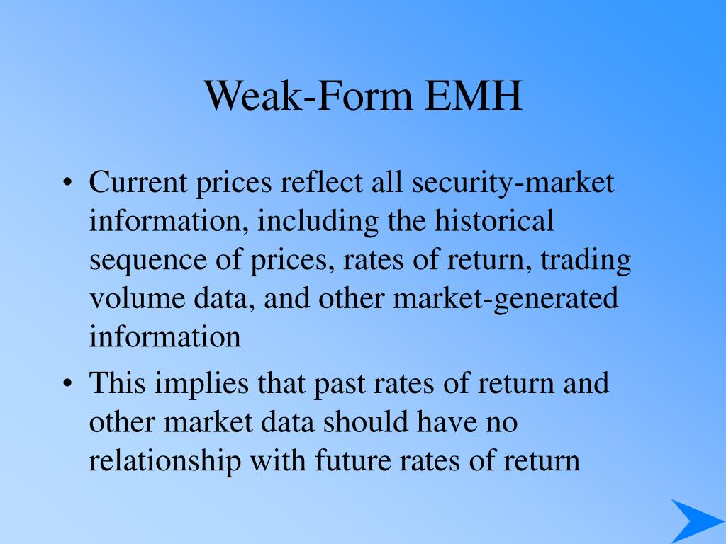 Weak-Form EMH