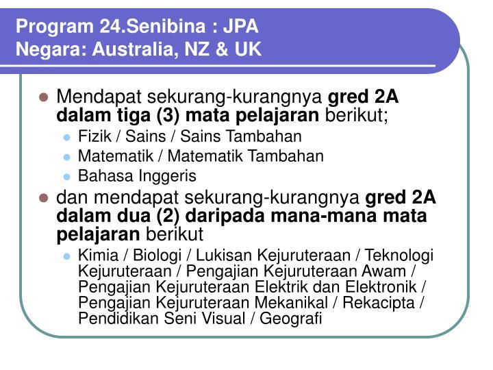 Program 24.Senibina : JPA