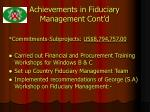 achievements in fiduciary management cont d
