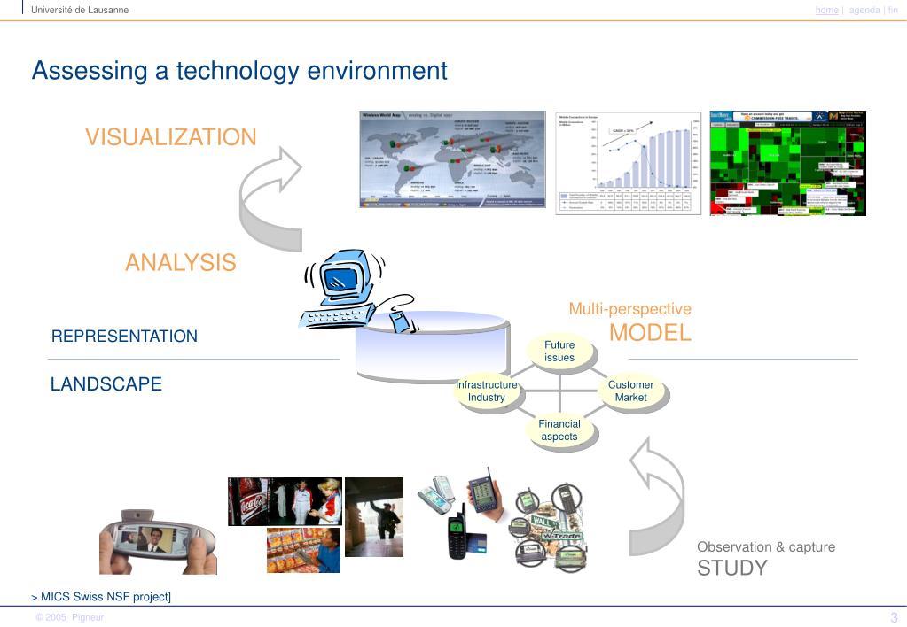 Assessing a technology environment
