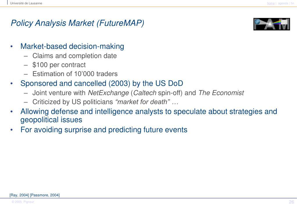 Policy Analysis Market (FutureMAP)