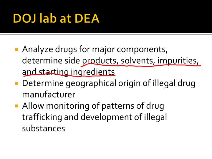 DOJ lab at DEA