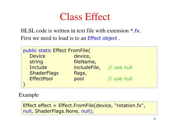 Class Effect